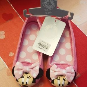New Minnie Mouse Flats size 8  shoes girls Pink